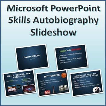 Autobiography Slideshow Activity for Teaching Microsoft PowerPoint Skills