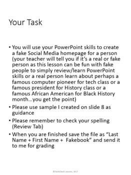 Social Media Page Activity for Teaching Microsoft PowerPoint Skills
