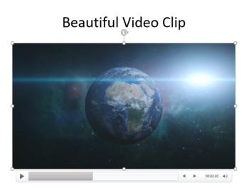 Microsoft PowerPoint Skills - Video Playback Activity Lesson