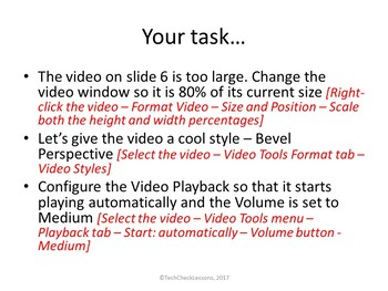 Video Playback Activity Lesson for Teaching Microsoft PowerPoint Skills