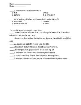 Microsoft PowerPoint Test