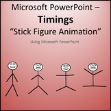 Stick Figure Animation Timings Activity for Teaching Microsoft PowerPoint Skills