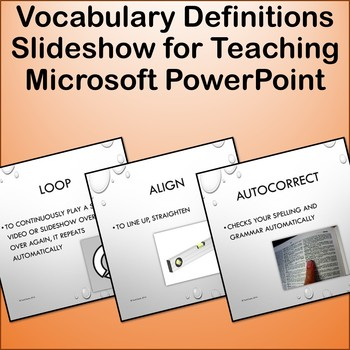 Microsoft PowerPoint Vocabulary Definitions Show