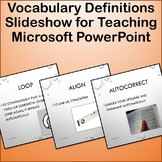 Vocabulary Definitions Slideshow for Teaching Microsoft PowerPoint