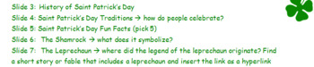 Microsoft Powerpoint Activity: St. Patrick's Day Research