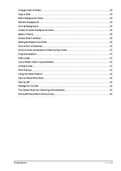 Microsoft Powerpoint Training Manual