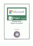 Microsoft Project Level 2 Student Courseware ( 2013 thru 2016)