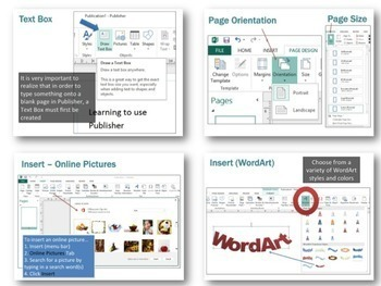 microsoft publisher 2013 lesson activities by gavin middleton tpt