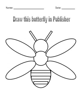 Microsoft Publisher Draw this butterfly Assignment
