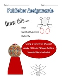 Microsoft Publisher Drawing Assignments