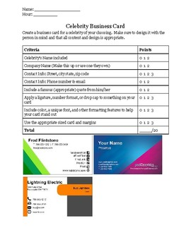 Microsoft Publisher - Introduction Project
