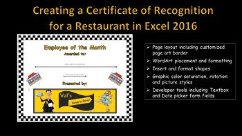 Microsoft WORD 2016 - Creating a Certificate of Recognition
