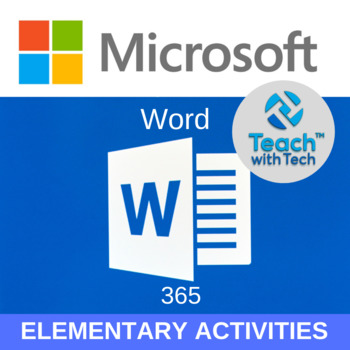 Office 365 Word Elementary Lessons & Activities