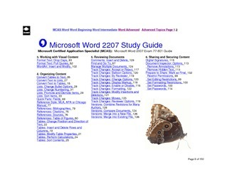 Microsoft Word 2007 Advanced