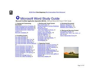 Microsoft Word 2007 Beginning