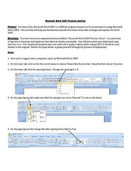 Microsoft Word 2007 How-to Tutorial / Scavenger Hunt