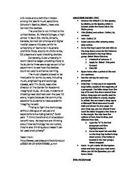 Microsoft Word 2010 Activity- Creating Columns in Word (Schools Ban. iPods Arti)