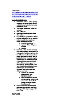 Microsoft Word 2010 Activity- Creating Columns in Word (iPod Hear. Loss Article)