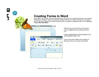 Microsoft Word 2010 Advanced: Form Design