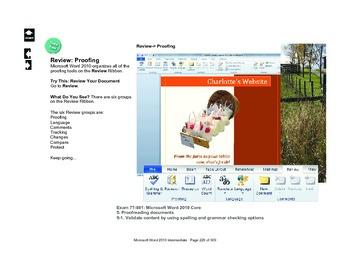 Microsoft Word 2010 Advanced: Prepare to Share