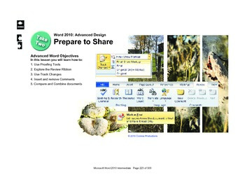 Microsoft Word 2010 Advanced: Prepare to Share
