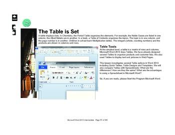 Microsoft Word 2010 Advanced: Table is Set