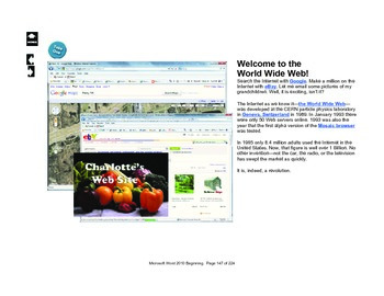 Microsoft Word 2010 Intermediate: Charlotte's Website