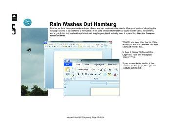 Microsoft Word 2010 Intermediate: Rain Washes Hamburg