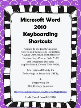 Microsoft Word 2010 Keyboarding Shortcuts