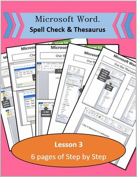 Microsoft Word 2010 - Lesson 3 (Spell Check & Thesaurus)