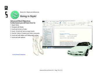 Microsoft Word 2013 Advanced: Going in Style