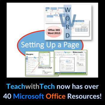Microsoft Word 2013 - Setting Up a Page