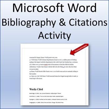 Microsoft Word 2013 Skills - Bibliography and Citations Lesson