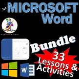33 Lessons for Microsoft Word Skills Bundle