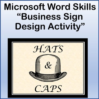 Microsoft Word Skills - Business Sign Design Lesson