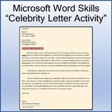 Celebrity Letter Lesson Activity for Teaching Microsoft Word Skills