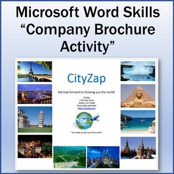 Microsoft Word 2013 Skills - Company Brochure Lesson