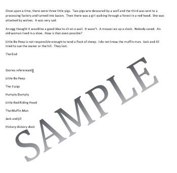 Microsoft Word Skills - Fairy Tale Lesson