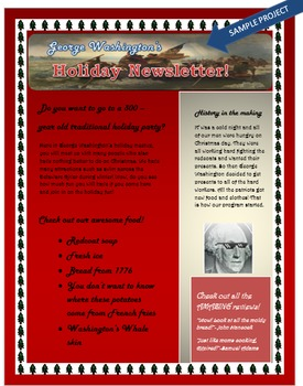 Microsoft Word Skills Holiday Newsletter Lesson