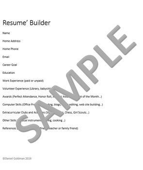 Microsoft Word Skills - Resume Lesson