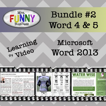 Microsoft Word 2013 Video Tutorial - Bundle #2