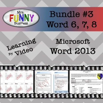 Microsoft Word 2013 Video Tutorial - Bundle #3