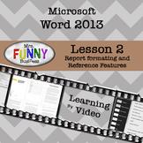 Microsoft Word 2013 Video Tutorial - Lesson 2