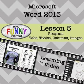 Microsoft Word 2013 Video Tutorial - Lesson 5