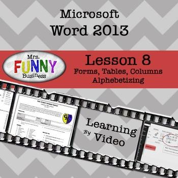 Microsoft Word 2013 Video Tutorial - Lesson 8