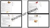 Microsoft Word 2016 Bulleted Lists Exercises- 4