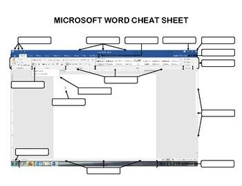 Microsoft Word 2016 Cheat Sheet