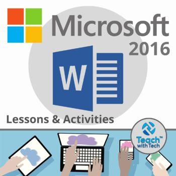 Microsoft Word 2016 Lesson Activities