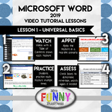 Microsoft Word 2019 Lesson 1 - Universal Basics