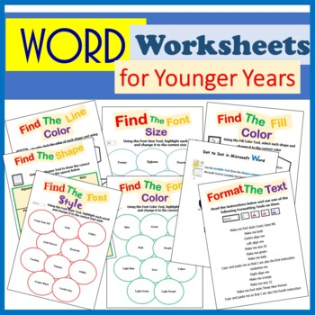 Microsoft Word Processing Skills Activities for Younger Years